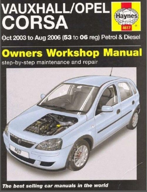 Product picture Vauxhall Opel Corsa C Workshop Manual 2003-2006 year in PDF/